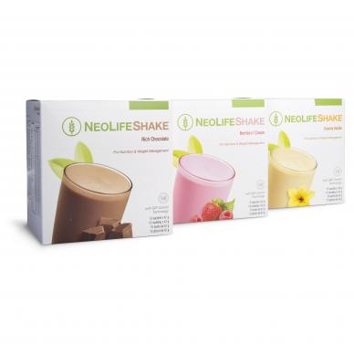 NeoLifeshake белковый напиток - заменитель пищи, ягоды и сливки, шоколадные и ванильные вкусы